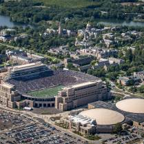 Notre Dame stadium.  Photo credit Andy Fuller.