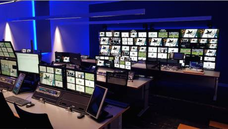 A REMI control room at NEP Australia's Sydney facility handles multiple live productions simultaneously.