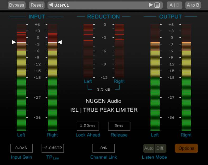 NUGEN Audio's ISL 2 true-peak limiter offers the true-peak compliance producers need to prepare audio for streaming services.