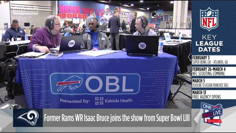 Last year, ONE BILLS LIVE (OBL) provided local radio and TV reports and coverage from the Atlanta GA site of Super Bowl LIII.