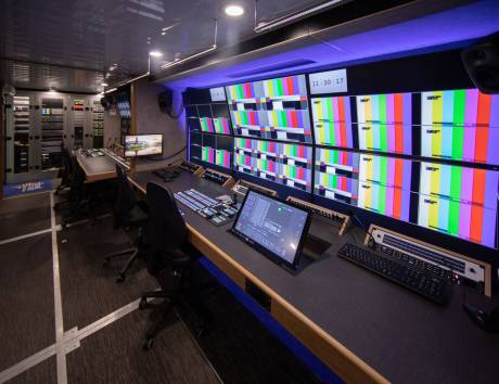 ONT's new OB Van features new Grass Valley LDX 82 Premiere HD cameras and a Grass Valley Kahuna 2 M/E production switcher.