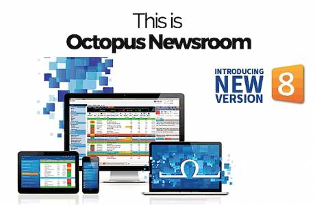 Octopus 8 reaches its audience through social media as well as conventional news outlets.
