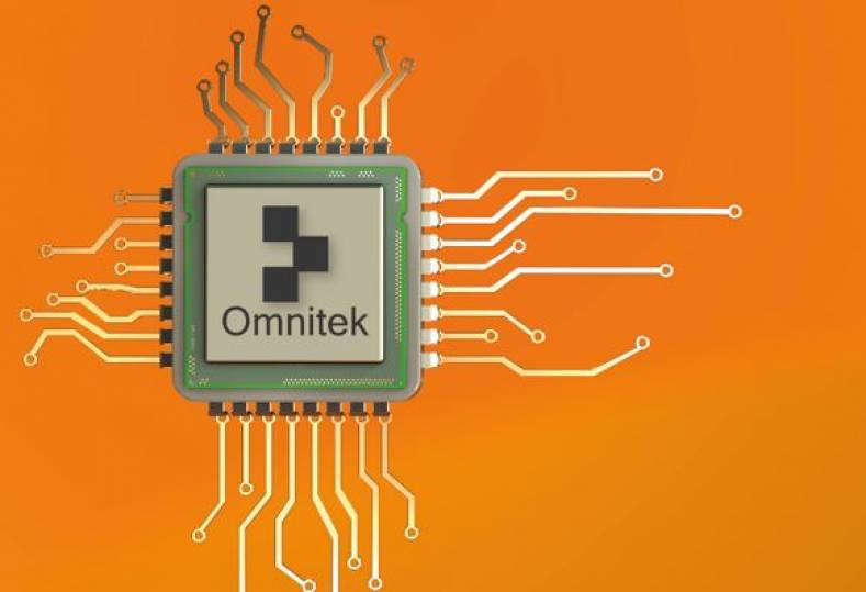 Omnitek showed its field programmible gate array chipsets designed for 4Kp60 H.265 over IP, and video Warp.