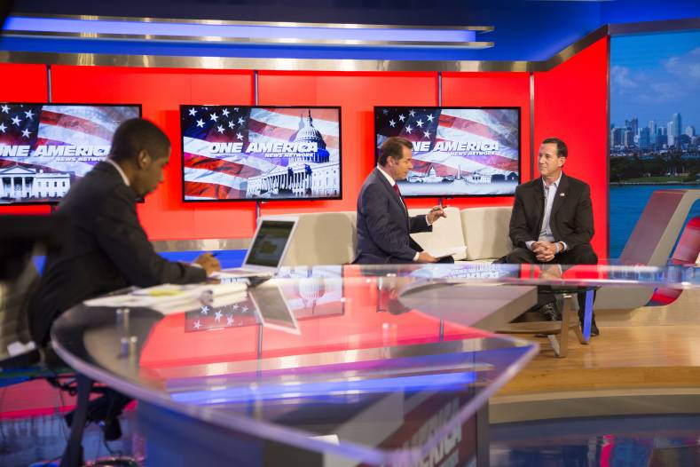 The One American News Network originates newscasts out of its San Diego studios.