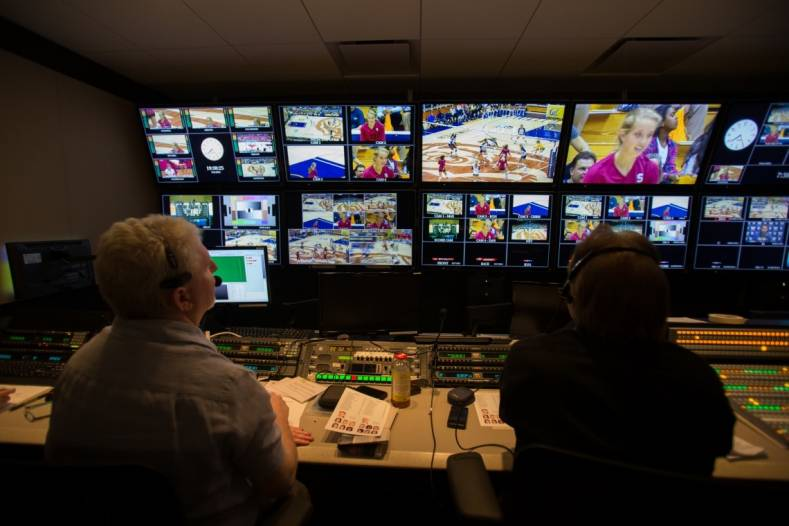 One of Pac-12 Networks' REMI control rooms, located in San Francisco's South of Market District.