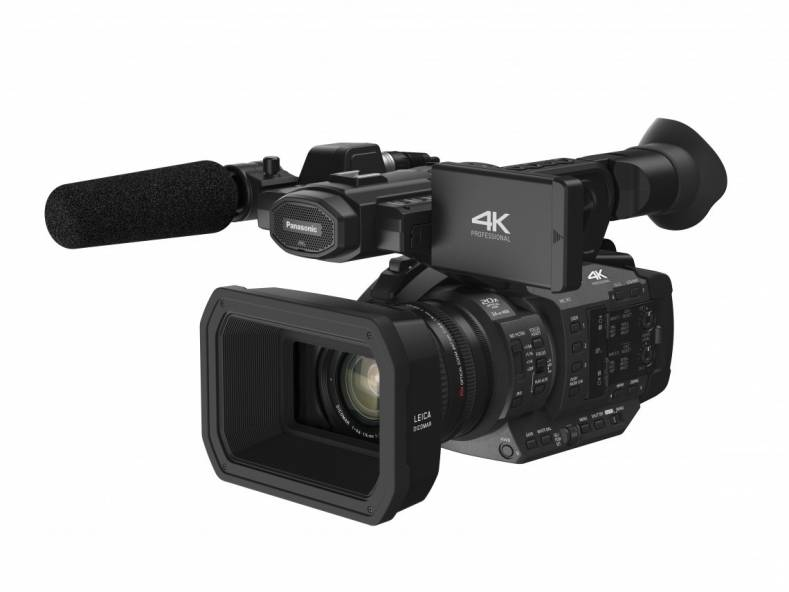 Panasonic HC-X1 4K camcorder supports 4K 24p, UHD 60p/50p, FHD 60p/50p and HD super slow-motion, has a 24mm angle LEICA DICOMAR 4K Lens.