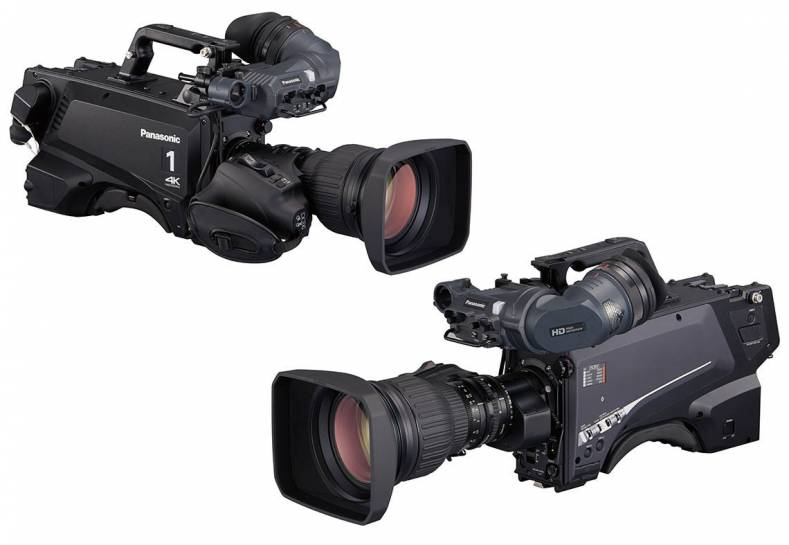 The 4K UC-3000 (left) and the flagship HC-5000 high speed cameras from Panasonic