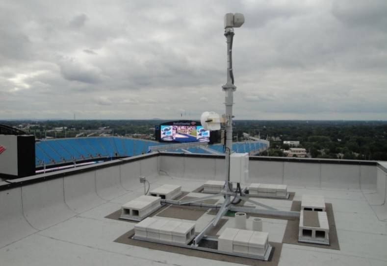 The Carolina Panthers use a 60 GHz VidOwave transmitter to transport real-time, uncompressed HD to a studio several blocks away.