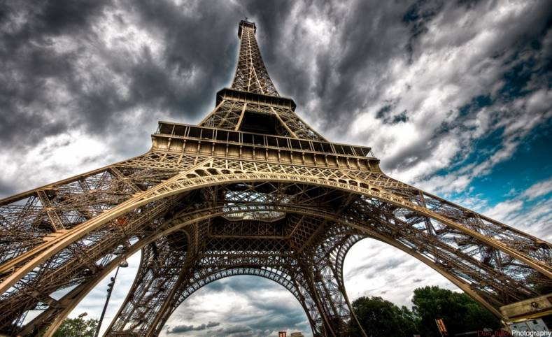 HDR version image of the Eiffel Tower, Paris
