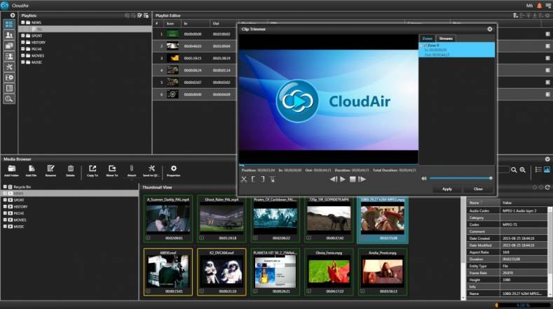 CloudAir graphic user interface.