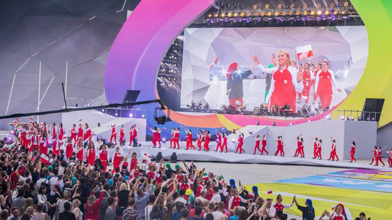 World Games 2017 featured 3,500 athletes from 112 countries and was produced remotely via IP.