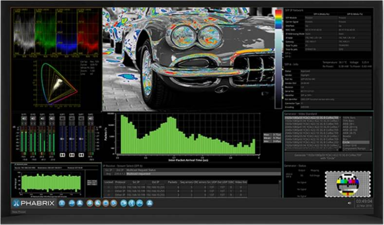 The Qx 12G HDR/WCG toolset provides new instruments to speed 4K/UHD and HD-SDI workflows with enhanced visualization and analysis.