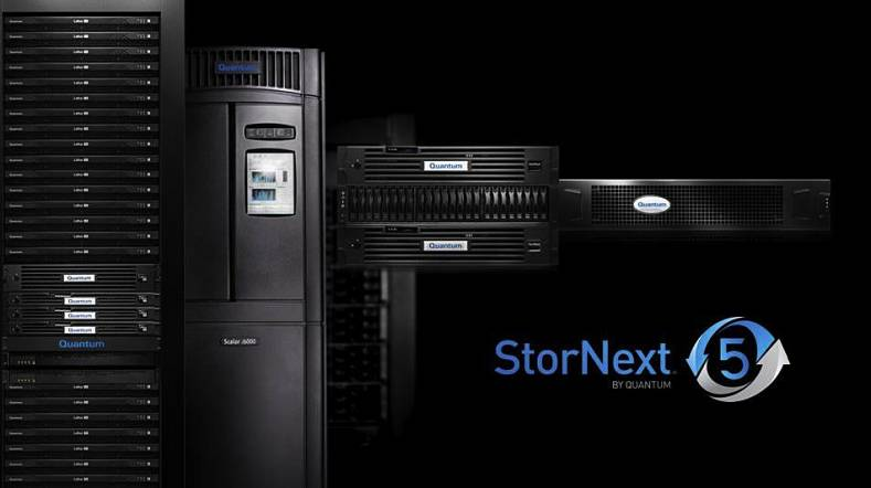 Quantum StorNext 5 storage family.