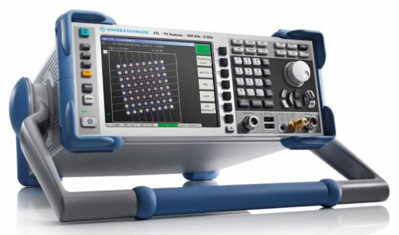 The Rohde & Schwarz ETL TV Analyzer is one of several scientific instruments specifically designed for ATSC transmission testing.