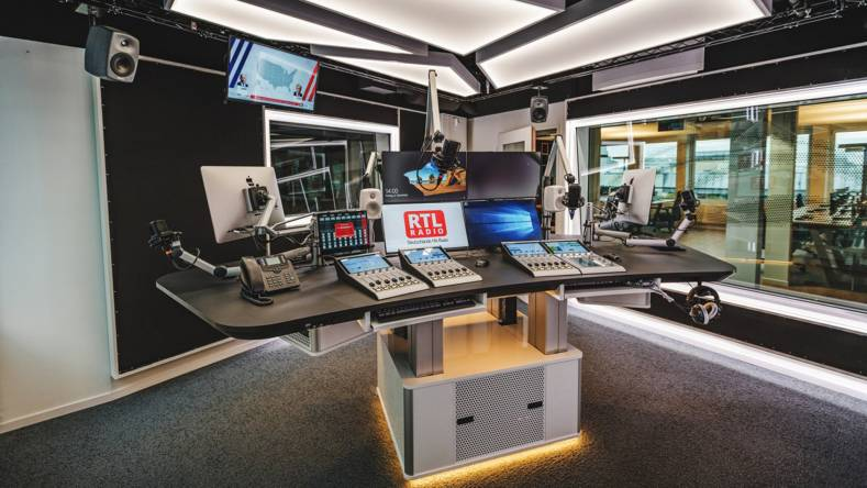 DHD Audio sound mixers in the RTL Germany Hitradio presentation suite.