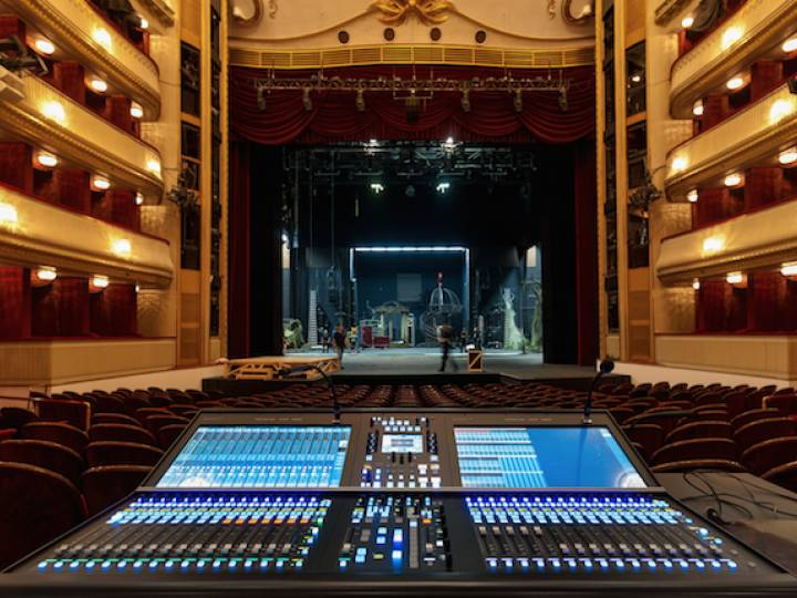 The Burgtheater owns two SSL System T consoles that operate on the same network.
