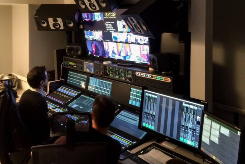 The System T is SSL's Networked Audio Production Environment, designed to handle large-scale broadcast productions.