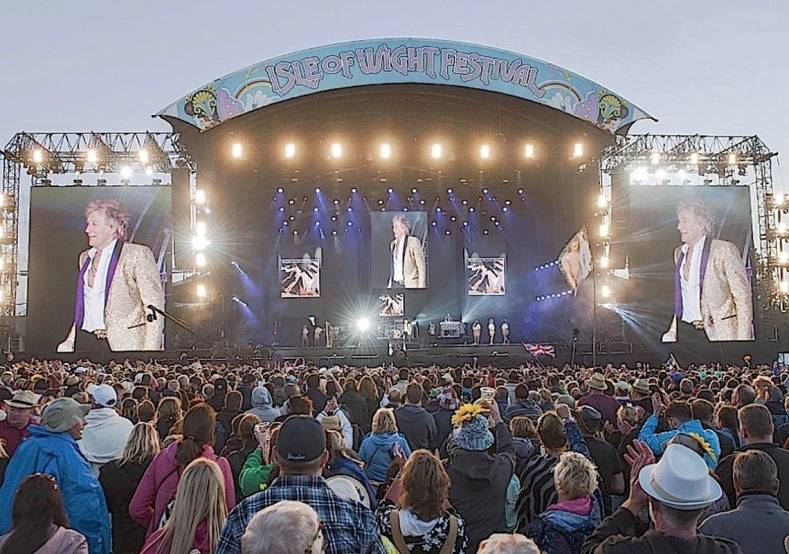 Rod Stewart headlined the Isle Of Wight 2017 Fest this summer
