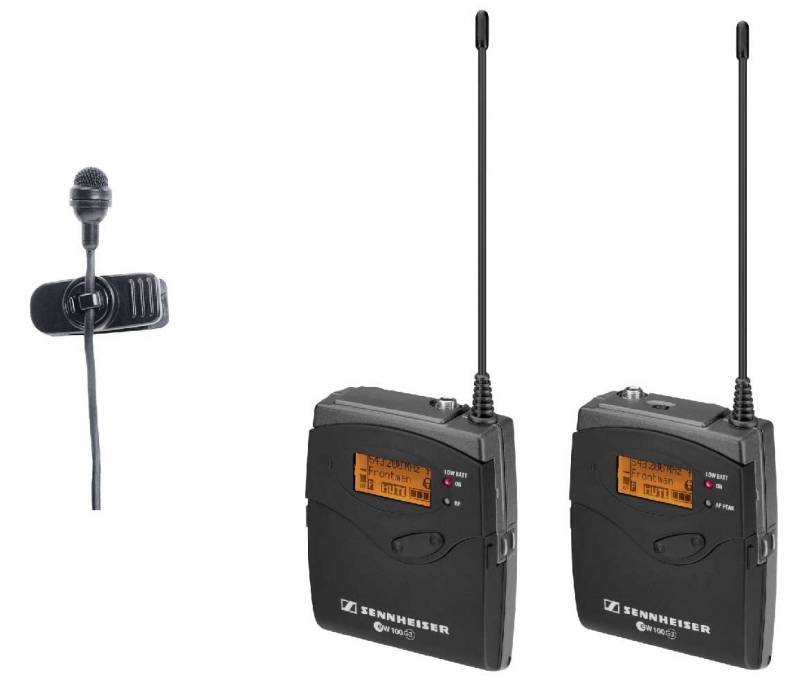 The wireless microphone is an essential part of the videographer's toolset. The Sennheiser G3 system is shown here.