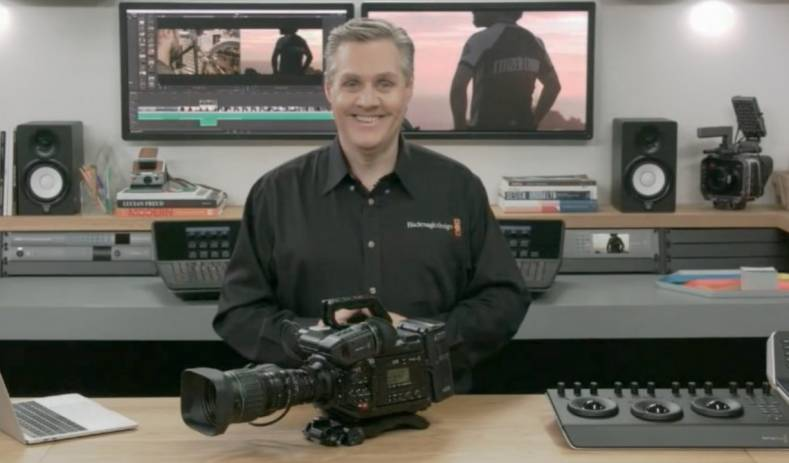 Blackmagic Design's Grant Petty addresses the press during March 1st Webinar.