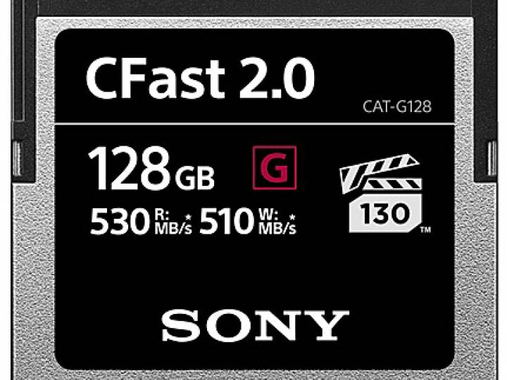 The CFast cards support VPG130 for reliable Cinema-grade or high-bitrate 4K video and provide a minimum sustained write speed of 130MB/s.