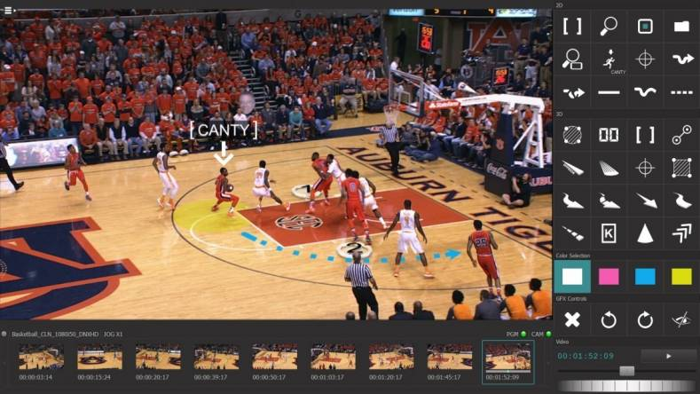 Avid's Spark telestrator gives a professional graphics look to college athletics