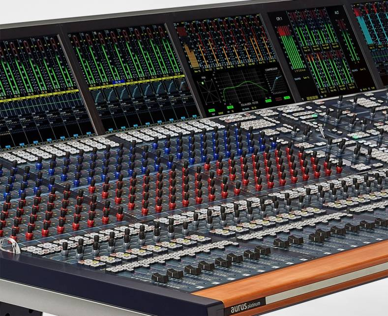 Stagetec's Aurua platinum console now includes parallel (New York) compression for TV post applications.
