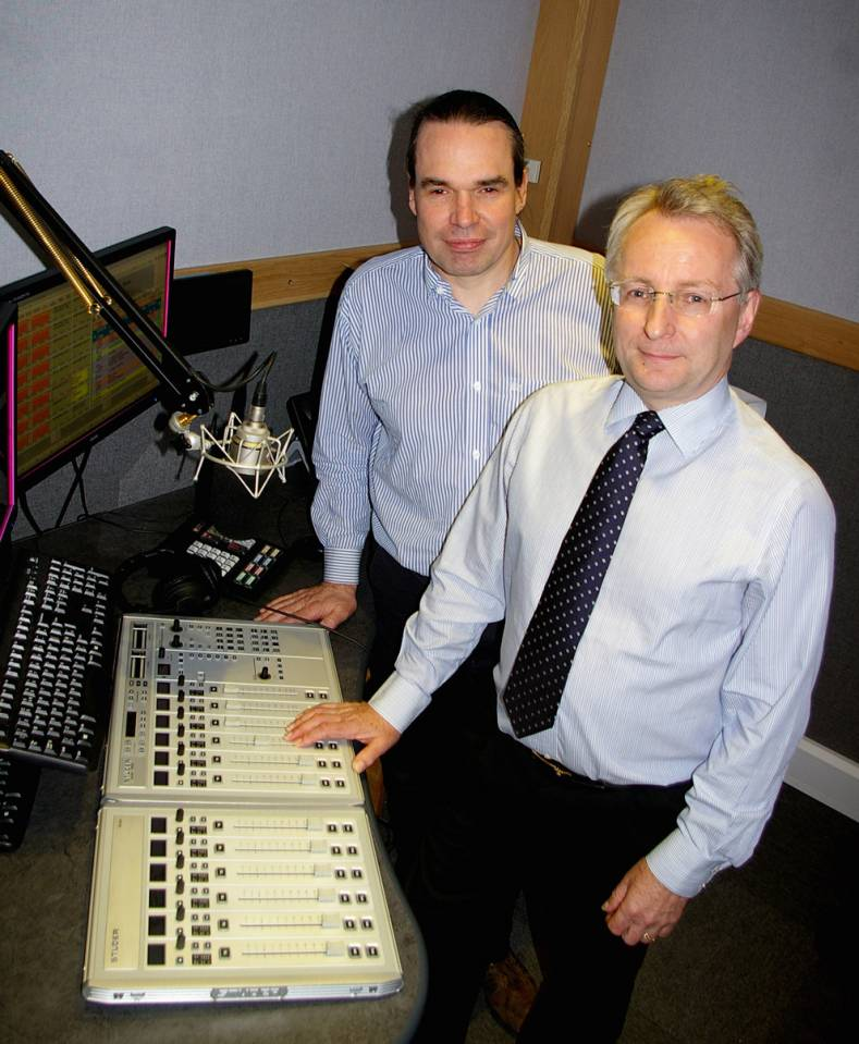Studer's Simon Roome (left) and Quentin Howard, in one of SSVC's newly upgraded production studios.