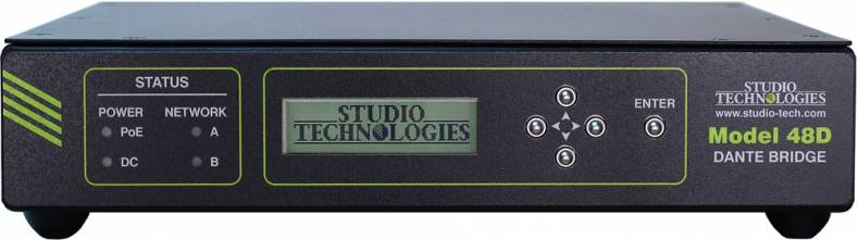 The Model 48D is compliant with Dante Domain Manager and supports AES67 digital audio signals.