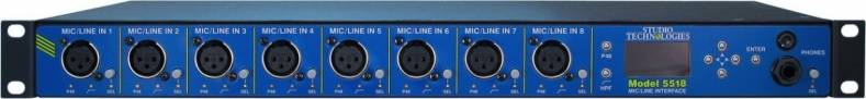 Studio Technologies Model 5518 mic-line interface.