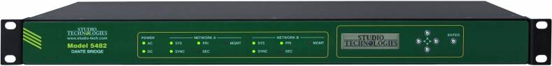 The model 5482 connects up to 64 channels of audio between independent Local Area Networks.