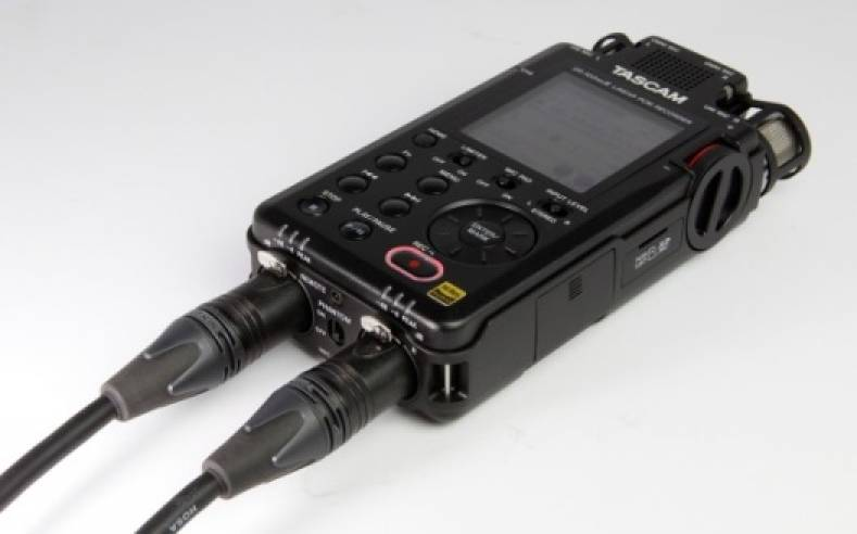 The TASCAM DR-100mkIII features dual stereo mics with both AB and omnidirectional patterns for maximum versatility.