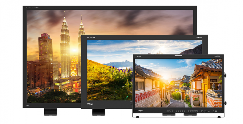 The TVLogic exhibit at IBC 2019 was filled with new monitors raising the bar on nits.