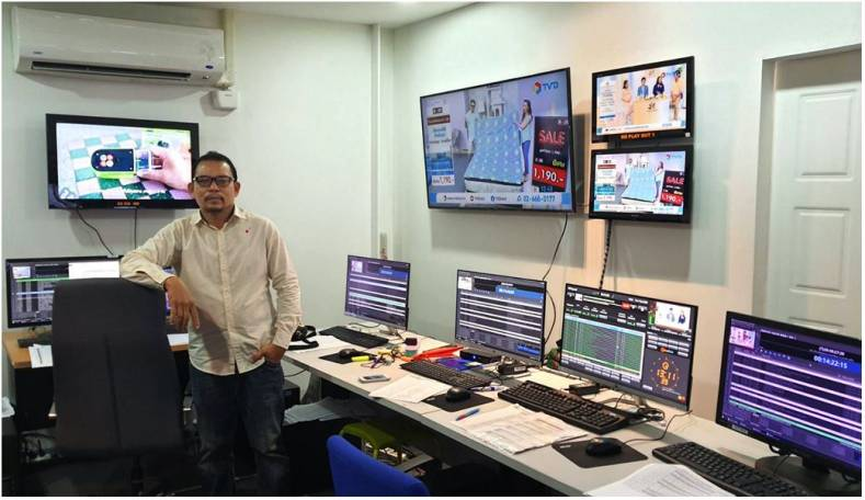 TV Direct MCR Manager Akarachai Tobsin is proud of his network's playout control suite.