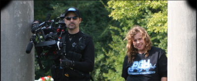 """Phantasmic Ghost Hunters"" Gavin Kelly (right) and Paula Purcell chasing ghosts for Amazon Prime series."