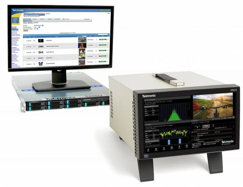 Tektronix PRISM media monitoring and analysis platform (R) and SENTRY video quality monitoring solution.