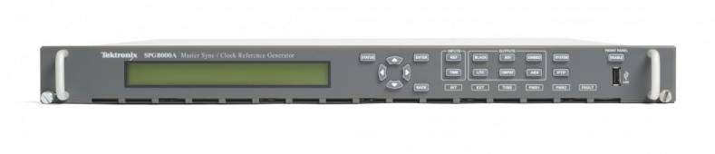 Tektronix' new SPG8000A Master Sync/Clock Reference Generator packs many valuable features in 1RU.