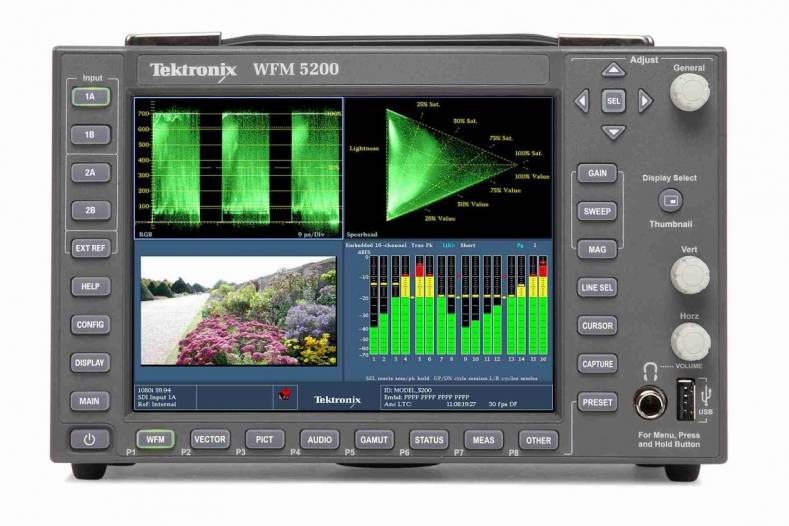 Tektronix WFM 8300 high performance 4K/Ultra High Definition (UHD) and HDR waveform monitor platform for Production, Post and Operations.