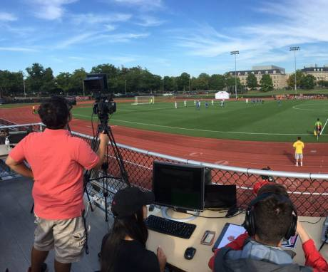 The athletics department at US-based Cornell University is streaming events like field hockey and soccer to their alumni.