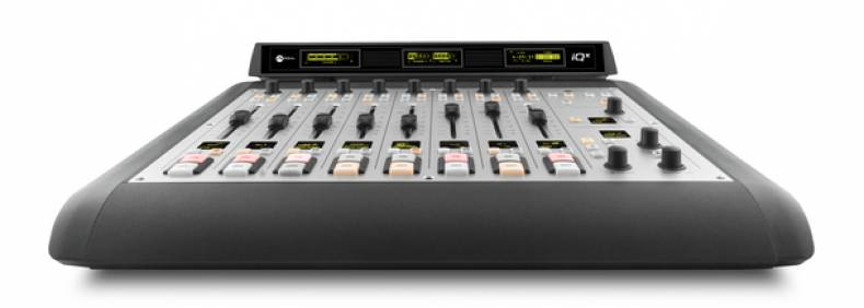 The Axia iQx console combines its mix engine and surface into one compact unit.
