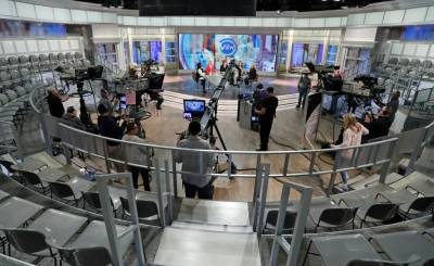 "Popular TV Shows like ABC's ""The View"" now shoot with no audiences and lots of safety procedures to adjust to."