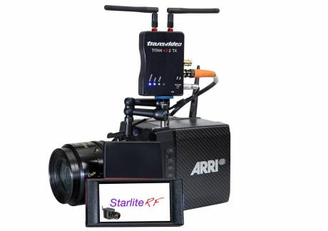 The new Transvideo StarliteRF-a wireless monitor with inbuilt remote control of ARRI