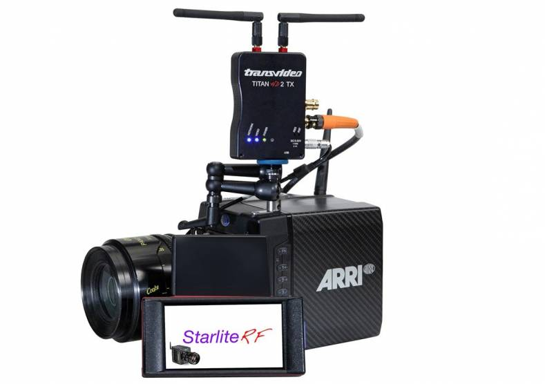 The new Transvideo StarliteRF-a wireless monitor with inbuilt remote control of ARRI's Alexa-Mini and Amira cameras