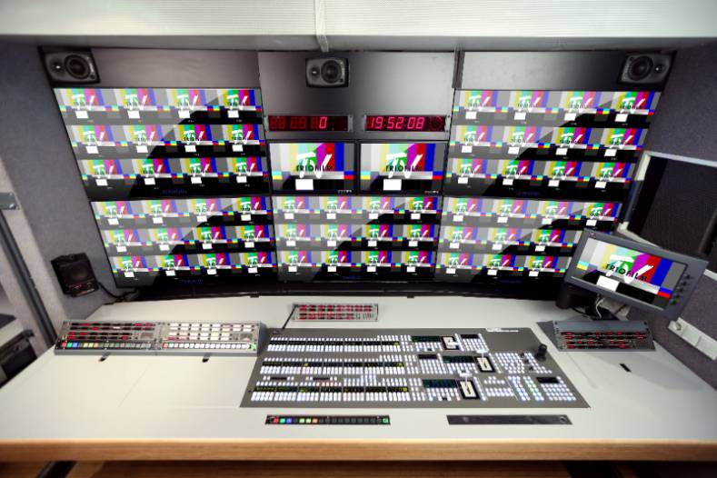 Triofilm TV has installed a Karrera K-Frame switcher, with up to 80x48 I/Os in a 6 RU chassis.