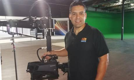 Company owner Rolando Nichols said the UC3000 camera provides the best features of both a live broadcast style and digital cinema camera.