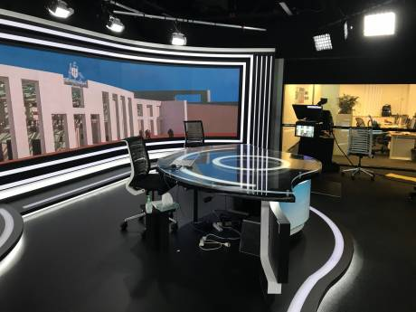 The company's Canberra Parliament House studio now includes new camera robotics technology from Vinten and Autoscript prompting monitors.