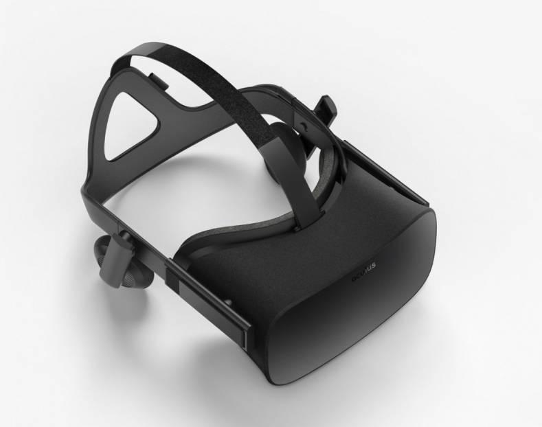 Figure 1: Oculus Rift—with headphones.