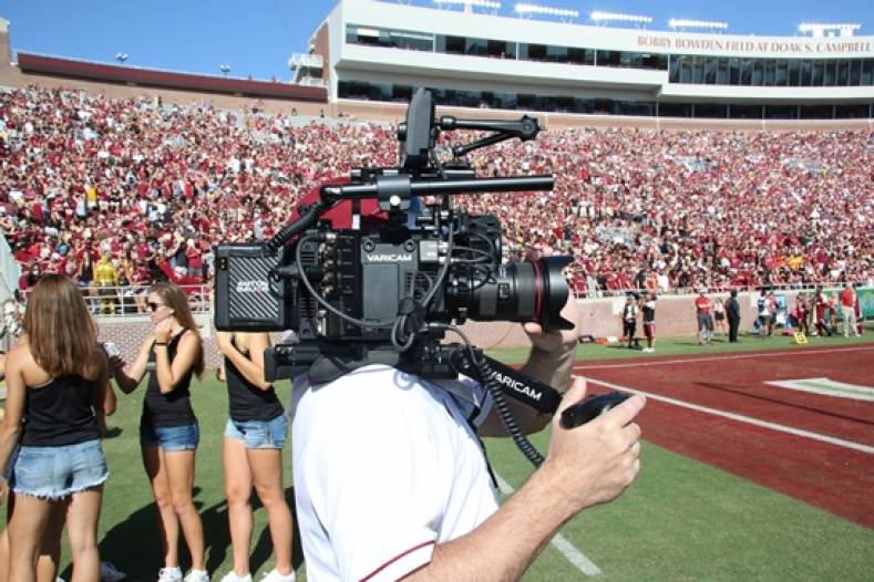 The VariCam LT is being used to shoot segments and interviews for the school's Doak Campbell Stadium screens.