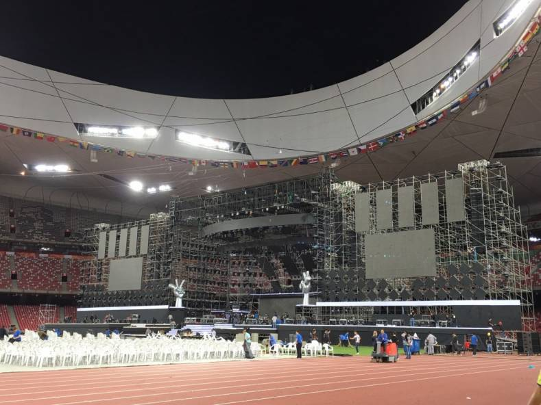"The finale of ""The Voice of China"" is broadcast live from the Beijing Olympic Centre (The Bird's Nest), using Jünger Audio technology."