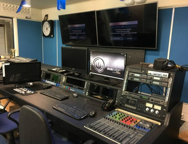 University of Warsaw HD TV studio control room
